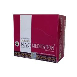 Kadzidło szczęścia - Golden Nag meditation stożkowe