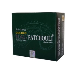 Kadzidło szczęścia - Golden Nag patchouli stożkowe