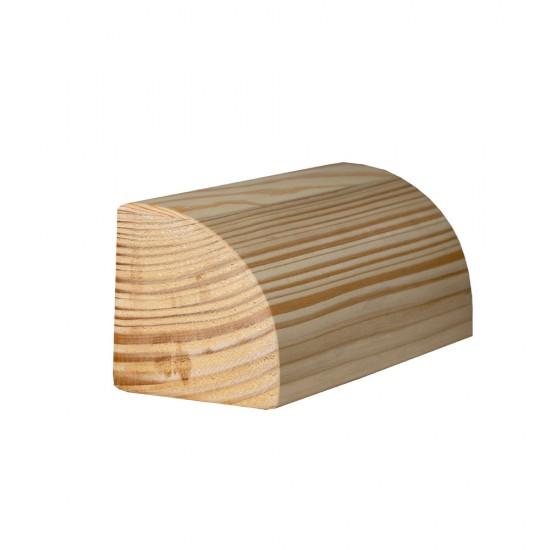 Ćwierćwałek do jogi drewniany - sosna