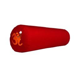 Bolster z haftem Ganapati OM czerwony