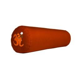 Bolster z haftem Ganapati OM pomarańczowy