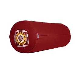 Bolster z haftem Śri Yantra bordowy