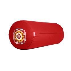 Bolster z haftem Śri Yantra czerwony