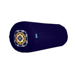 Bolster z haftem Śri Yantra granatowy