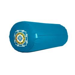 Bolster z haftem Śri Yantra jasnoniebieski