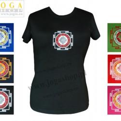 Damska Koszulka T-shirt haft z symbolem Śri Jantra
