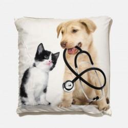 Poduszka dekoracyjna 40x40 cm Zwierzęcy lekarze