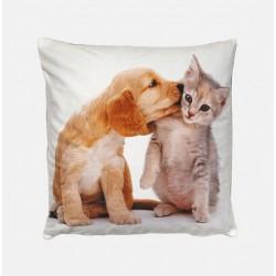 Poduszka dekoracyjna 40x40 cm Pies i kot