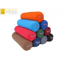 Wałki do jogi - komfortowy bolster z  haftem Czenrezig